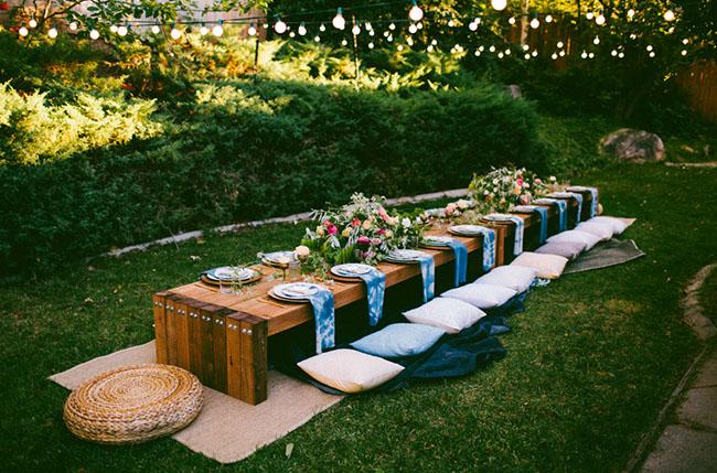 backyard outdoor dinner ideas