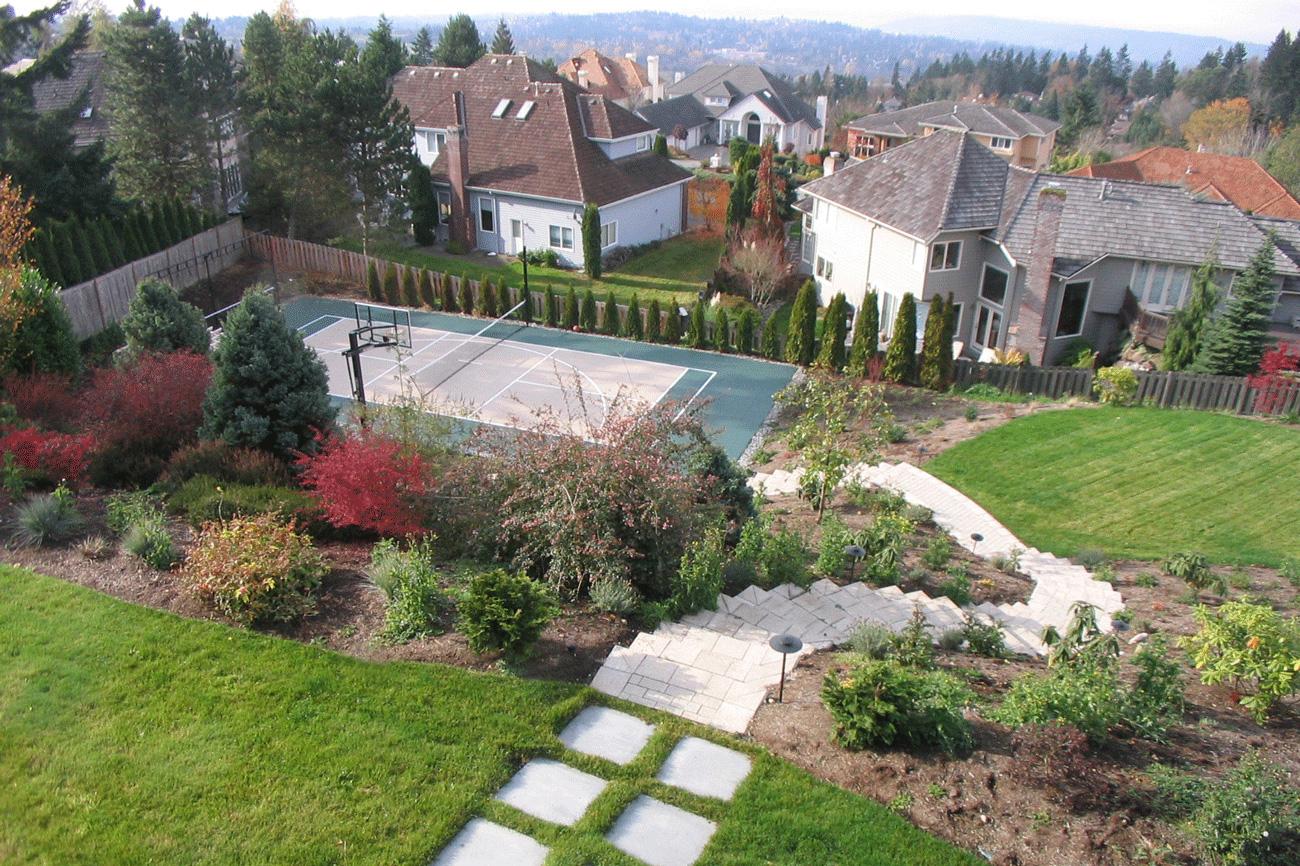 backyard sport court ideas