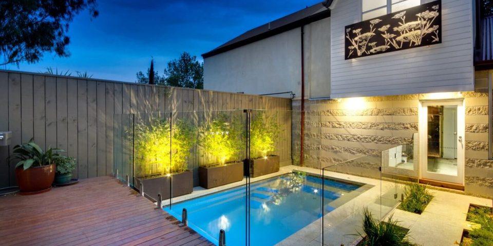 backyard underground pool