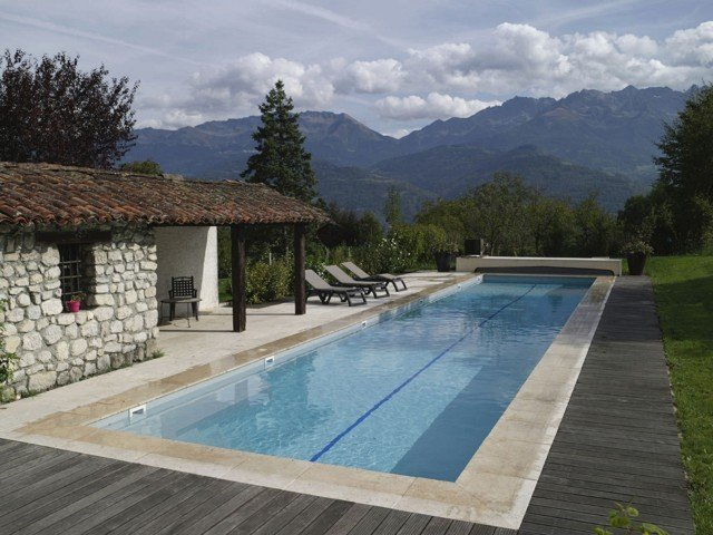 beautiful lap pool