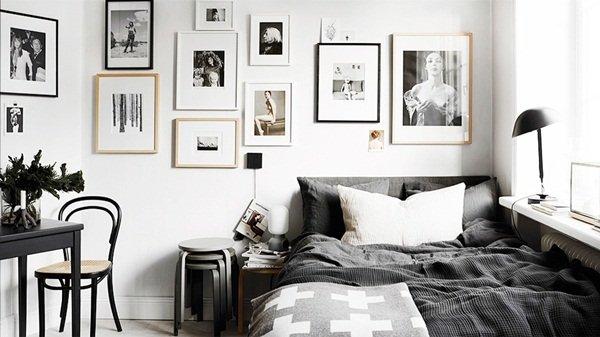 bedroom black and white interior design
