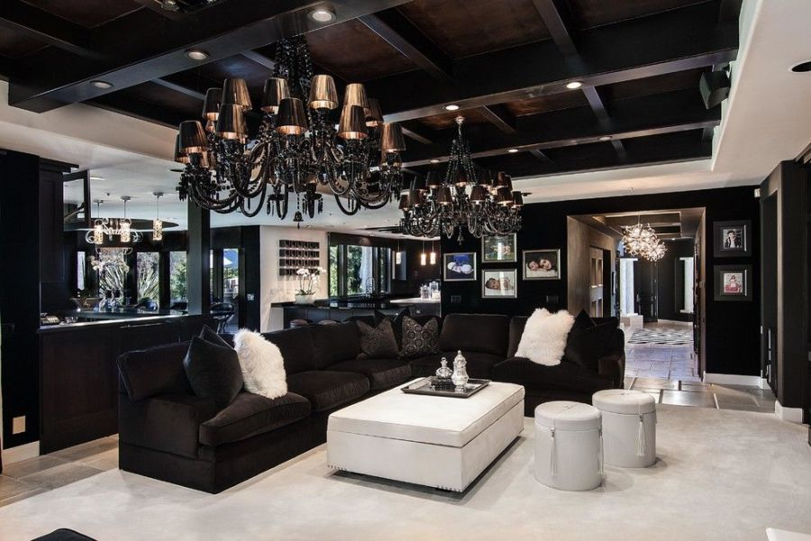 black family room ideas