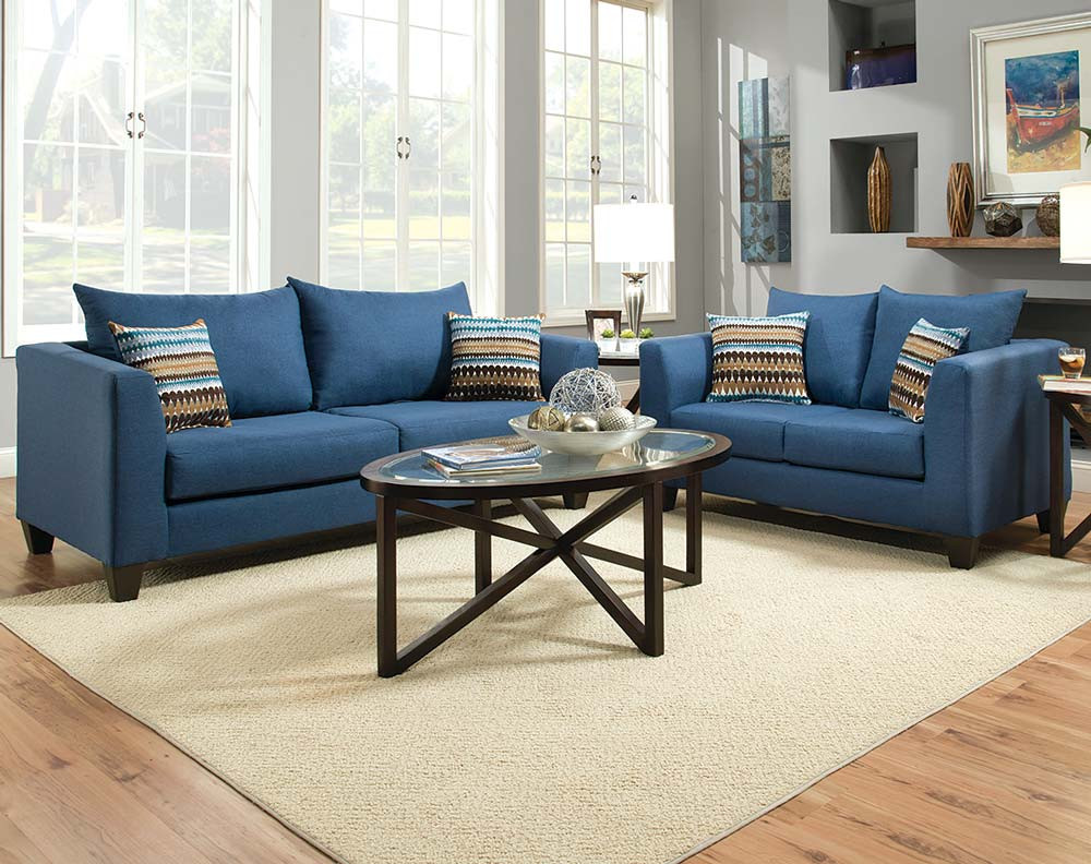 blue color sofa ideas