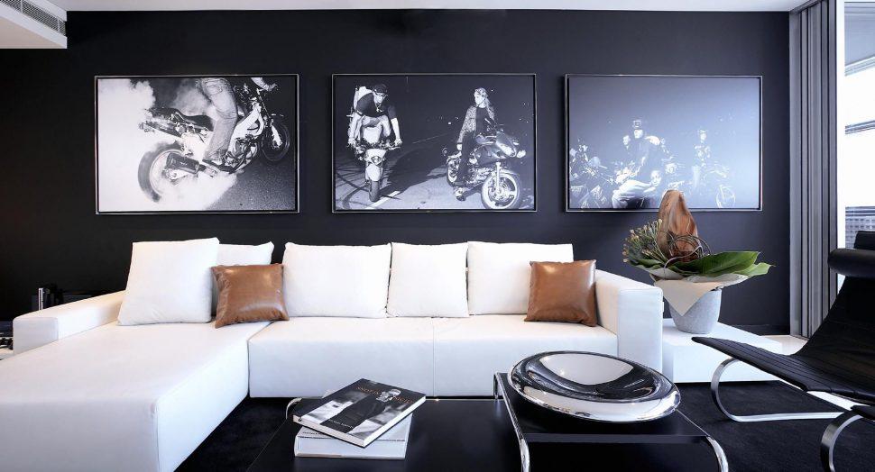 cool monochrome furniture interior design
