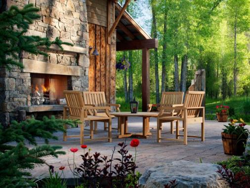 cozy oudoor patio backyard paver design