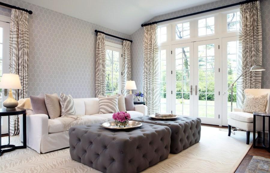 family room white design