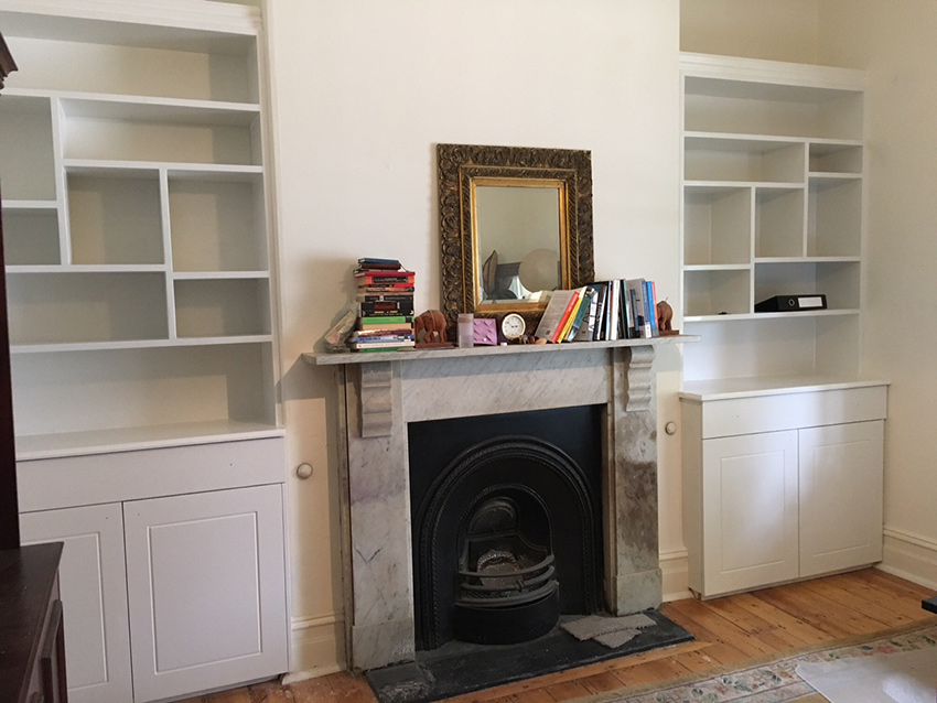 fireplace and shelving ideas