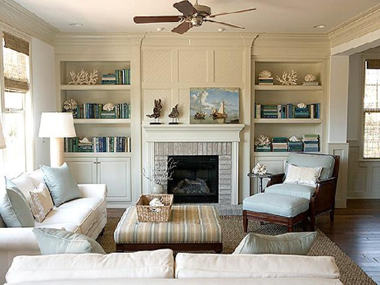 fireplace model with shelves