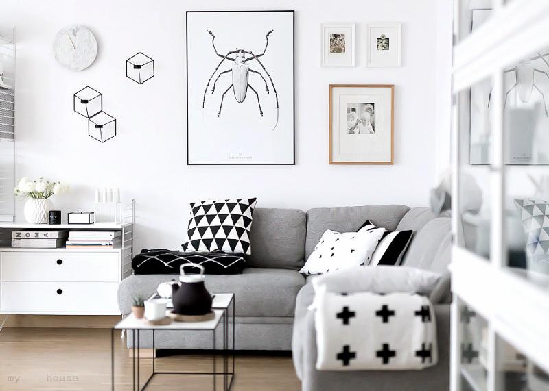 furniture with monochrome