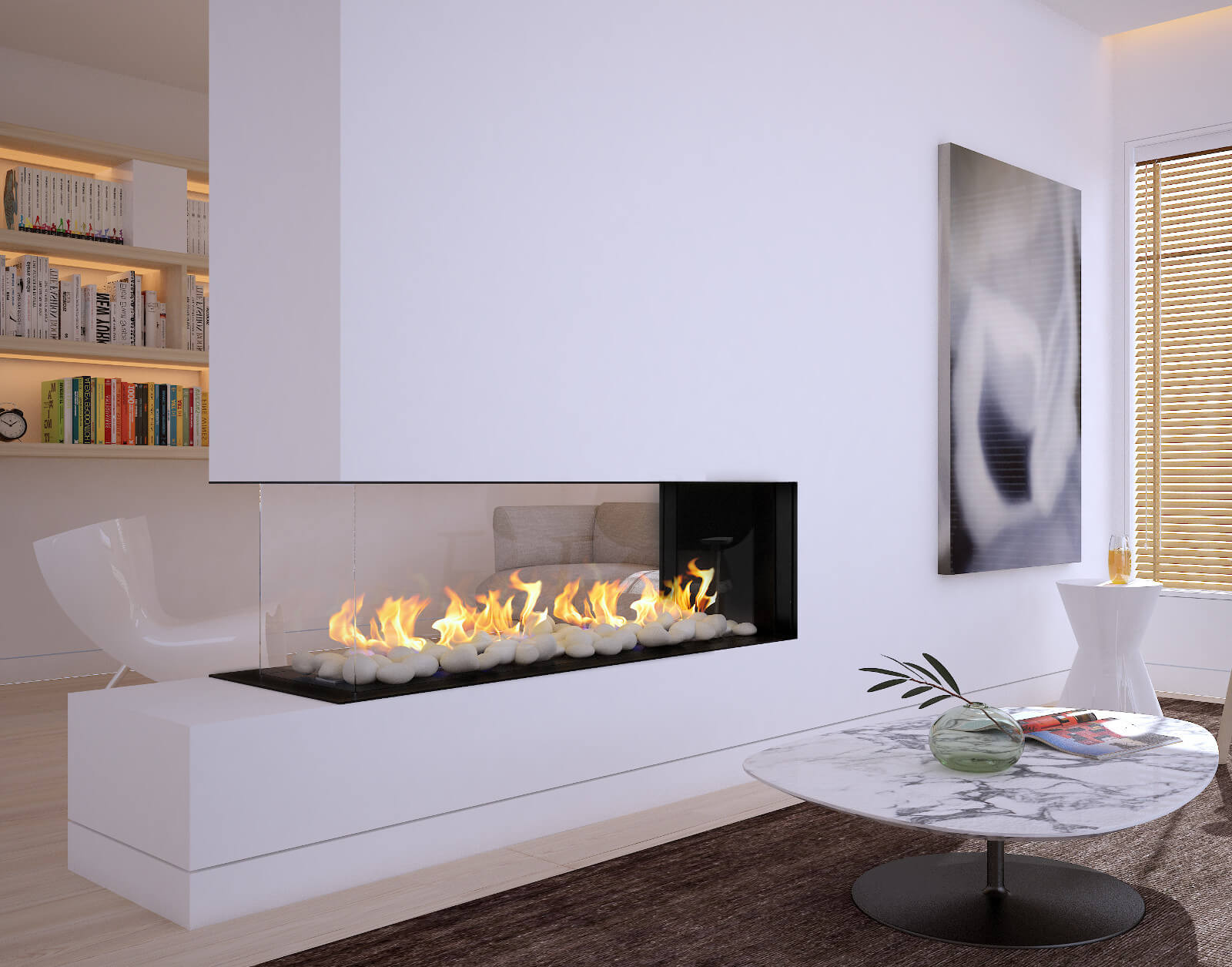 glass fireplace ideas