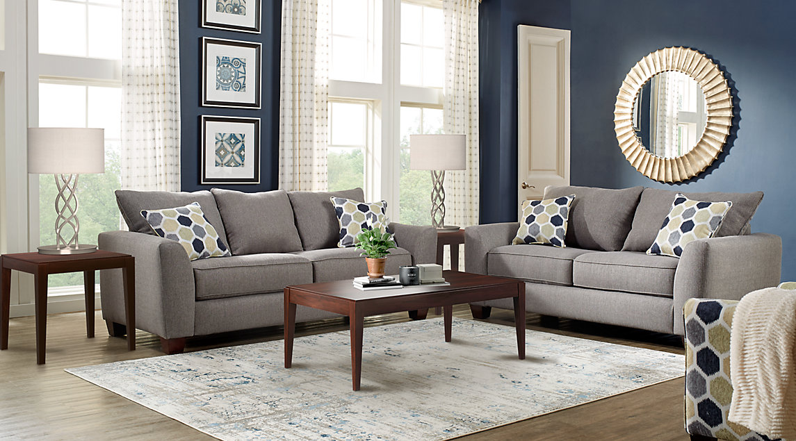 grey sofa design and style with minimalist wooden table