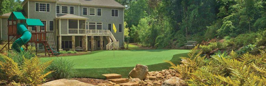 large backyard putting green ideas