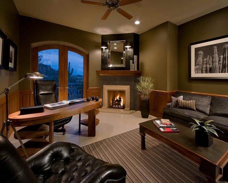 luxury interior design living room and office room