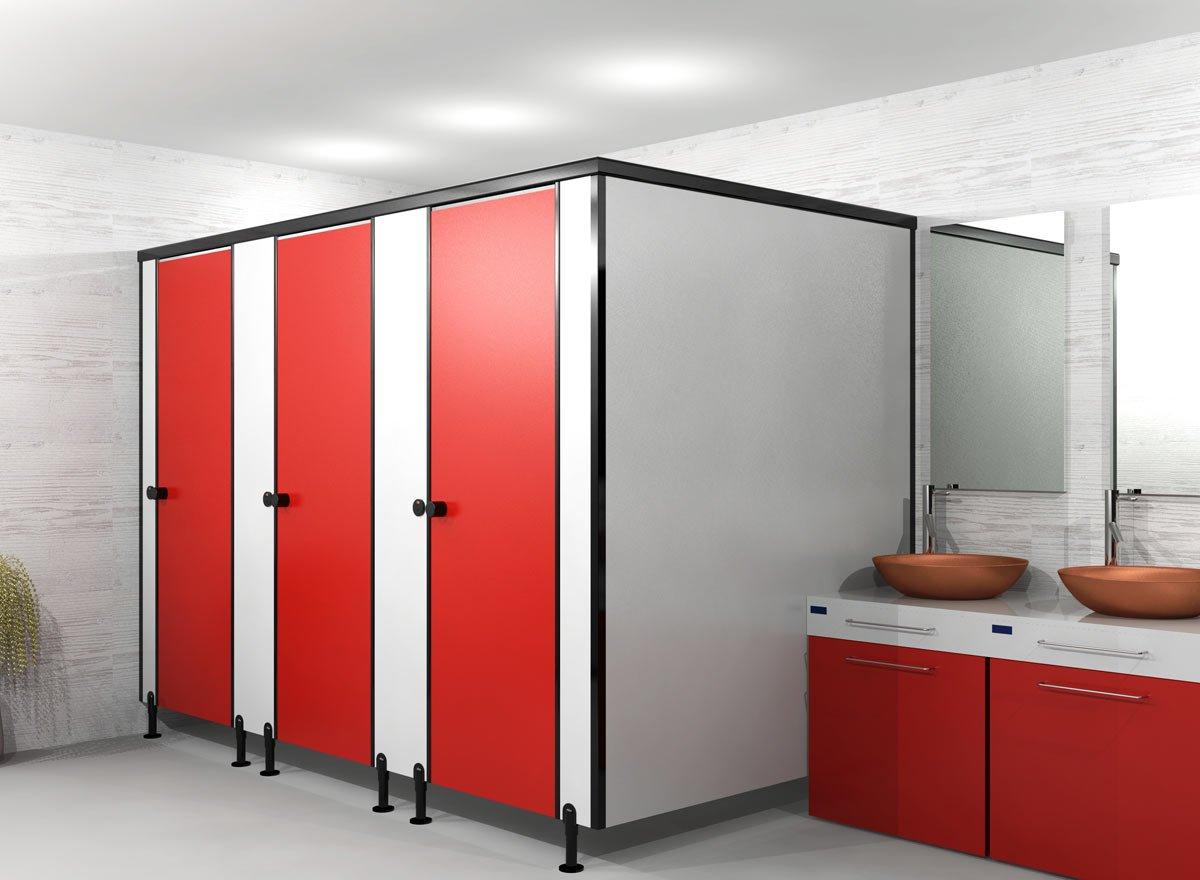 metal bathroom partition ideas