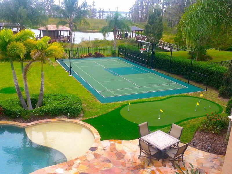 modern backyard sport court ideas