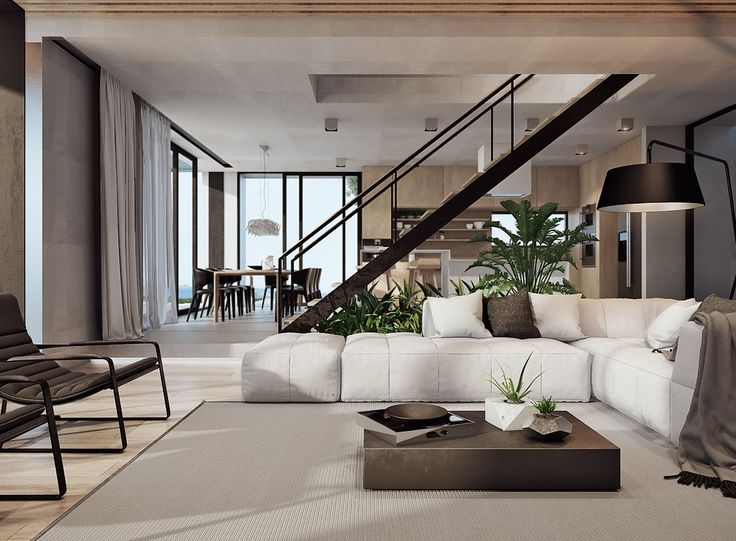 modern brown wall color house