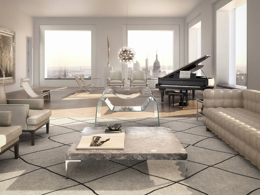 modern style living room calm color