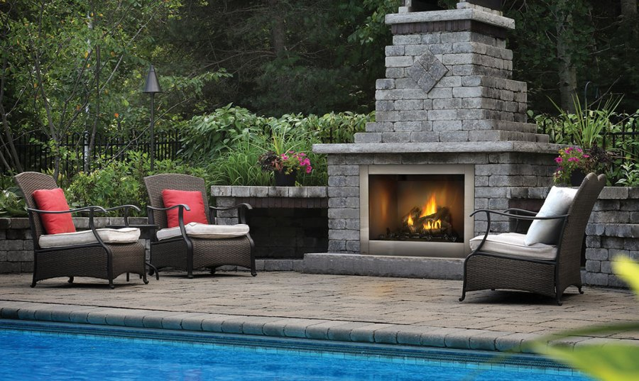 outdoor fireplace ideas pitures