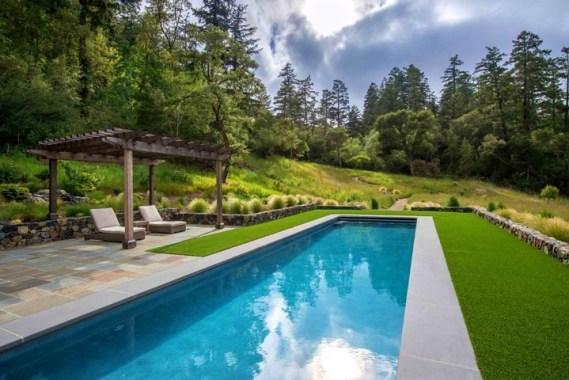 rectangle inground lap pool
