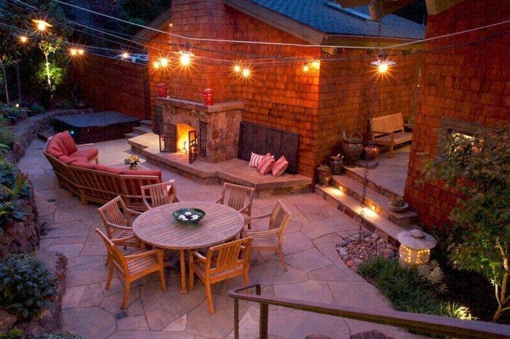 relaxing area backyard and patio