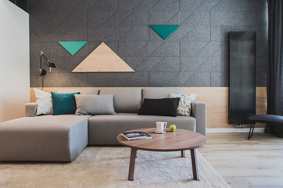 style geometric pattern living room areas
