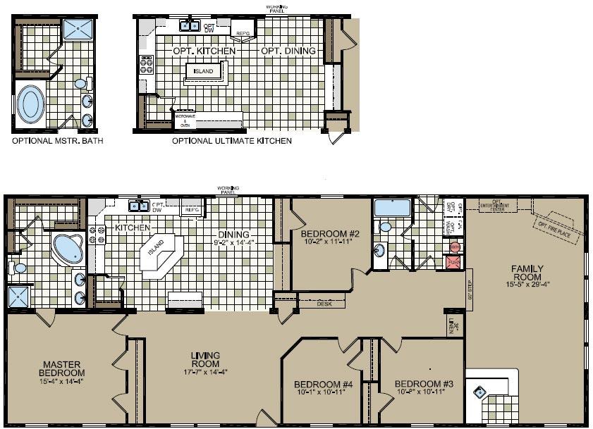 4 bedroom single wide scheme