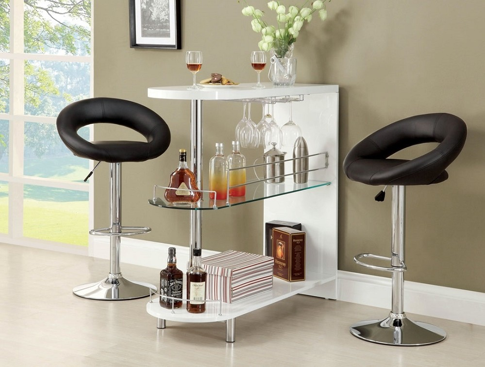 bar shelf white modern
