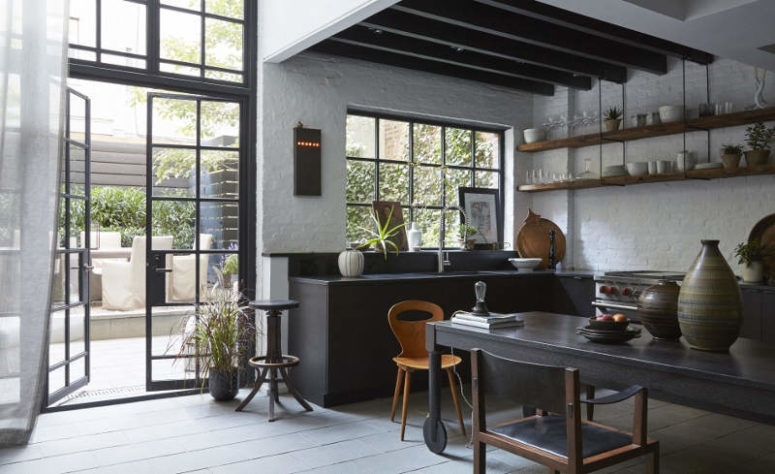 black and white pallette kitchen by designs