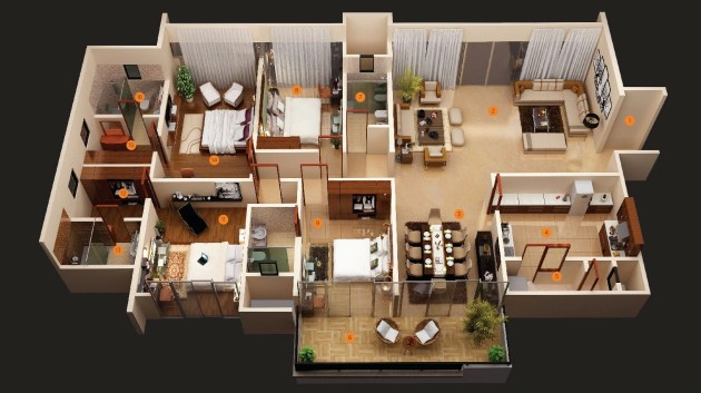 four bedroom ideas