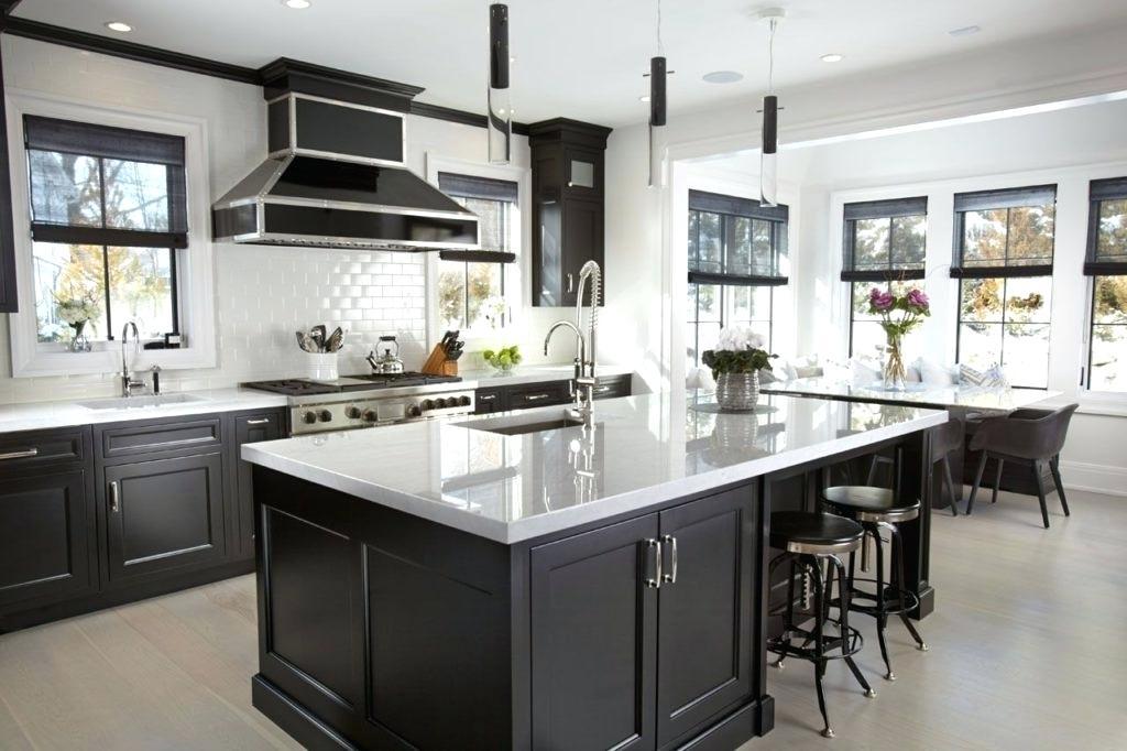 kitchen design ideas white and black classic modern