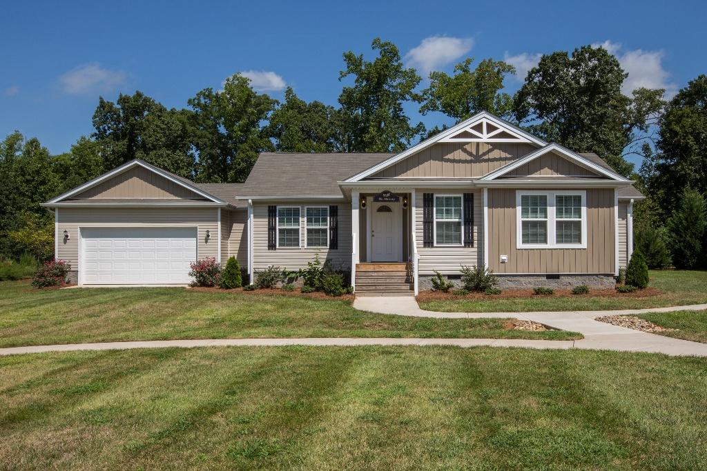 modular home with garage