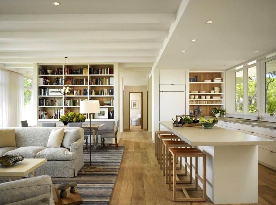 open kitchen and living room