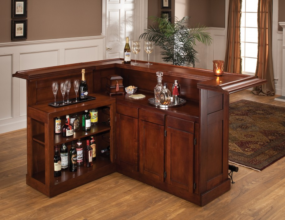 simple and classic bar cabinet