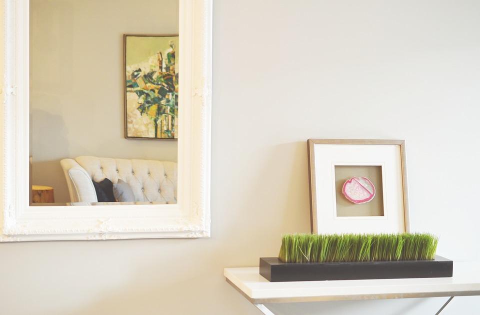 mirror living room design