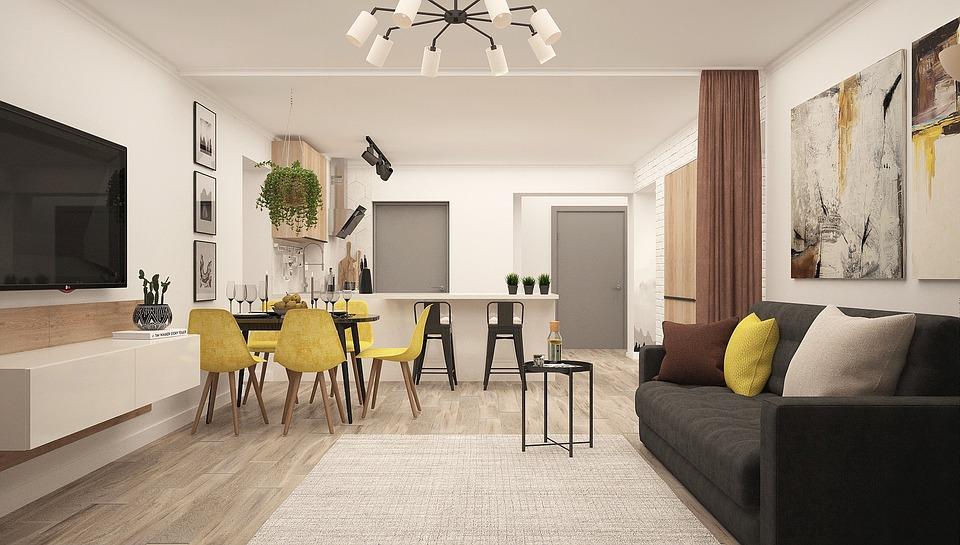 wall design - simple furniture