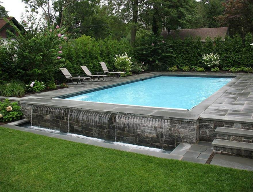 natural pool and patio