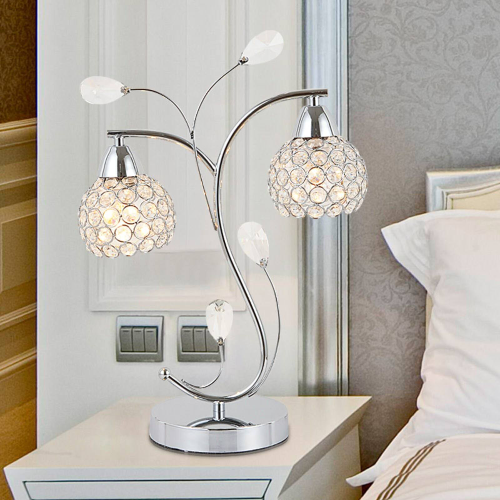 crystal bedroom table lamp