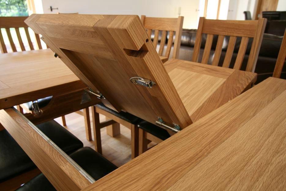 extending oak dining table