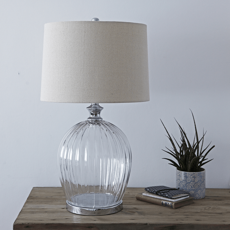 glass table lamp natural bedside lamps