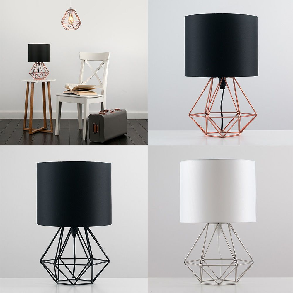 metal retro geometric table lamp