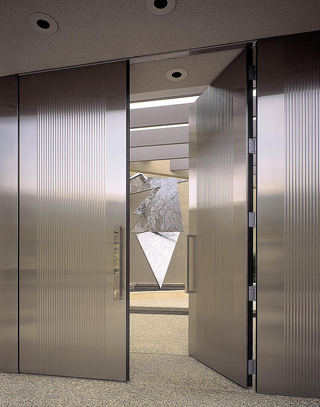modern stainless steel design doors ideas