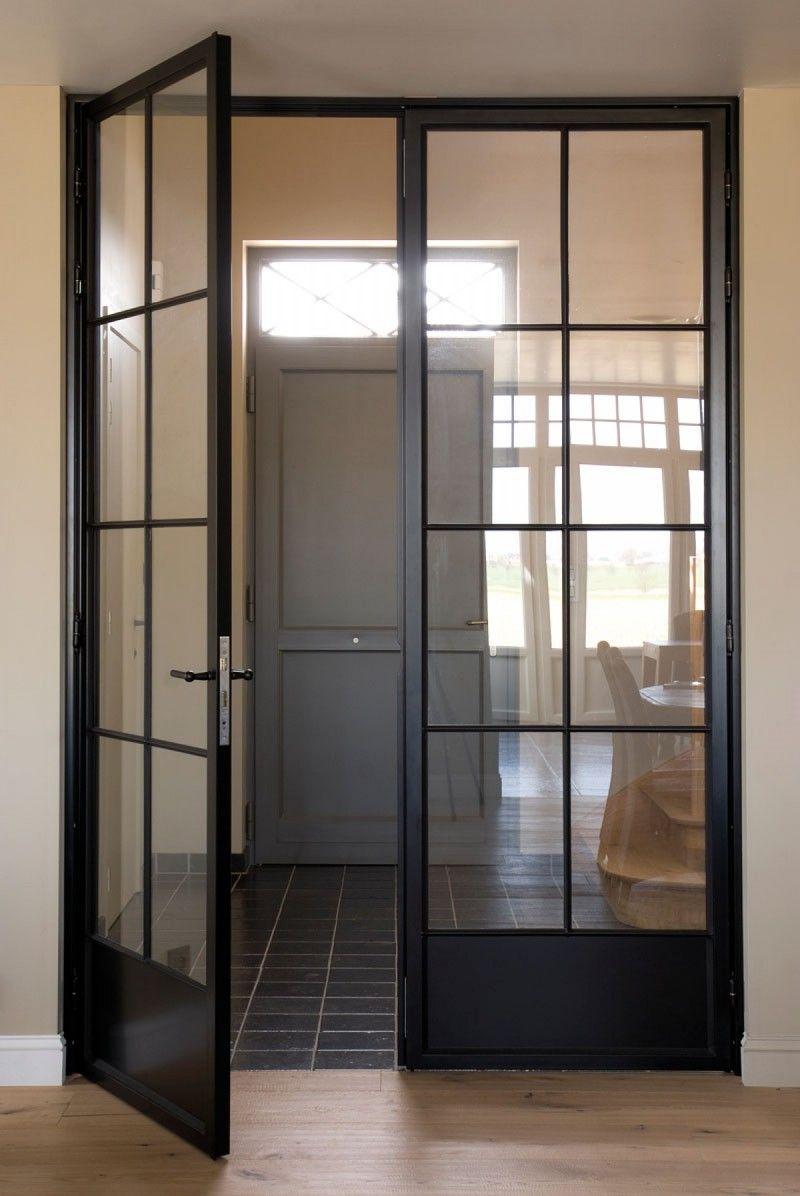 steel doors with glass