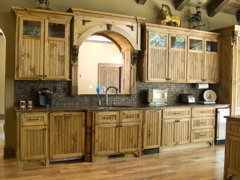 unique cabinet design on kitchen