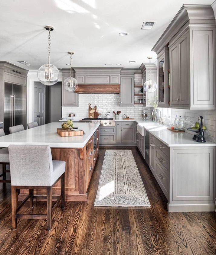 wooden floor style kitchen