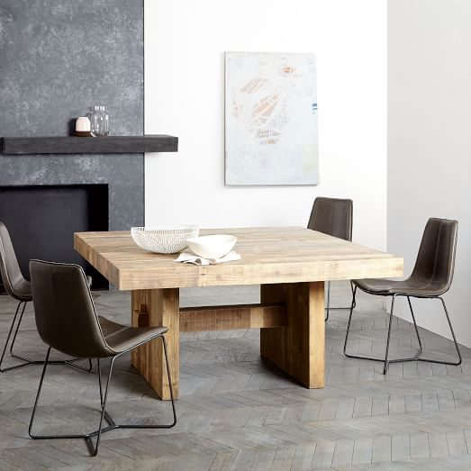 wooden square table ideas