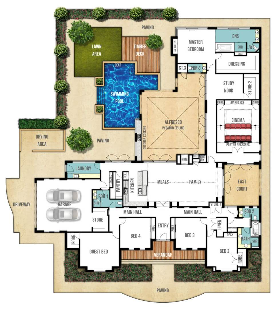 Large Home Floor Plans