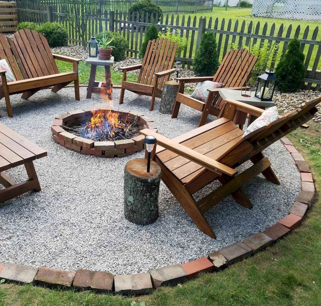 Cozy Fire Pit Area Design