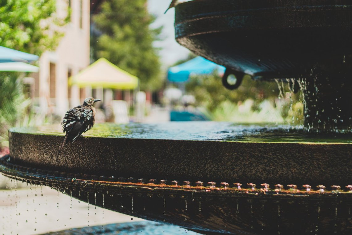 outdoor fountains small