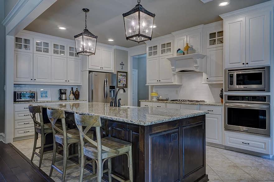 kitchen interior design room home interior residential decor decoration domestic