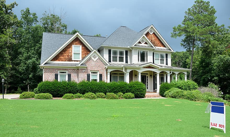 landscaping front yard new home for sale home house mortgage sell buy real estate construction